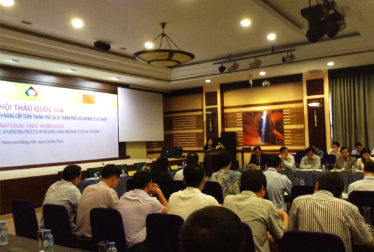 Chương trình hội thảo quốc gia tổng kết dự án Cities Alliance ACVN/CDF tại thành phố đồng hới ngày 23/4