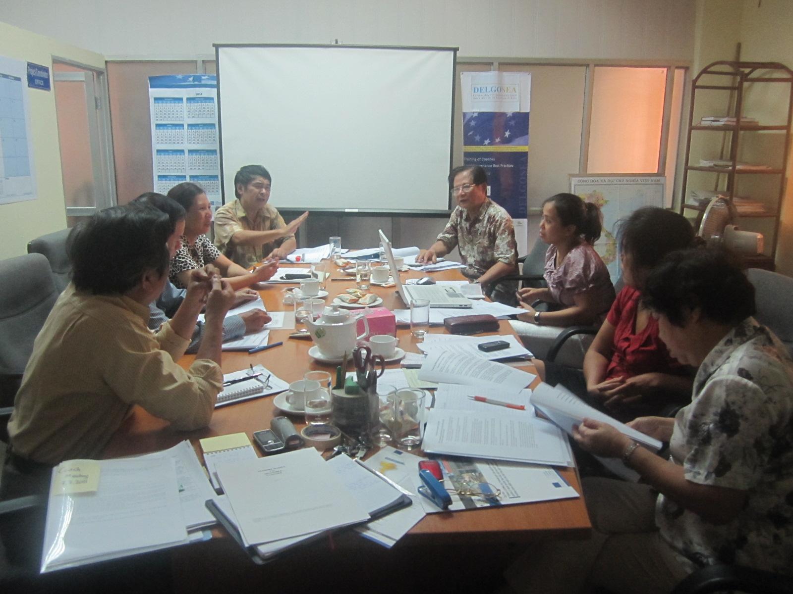Cuộc họp giữa Lãnh đạo ACVN và Ban Điều phối, chuyên gia dự án Delgosea